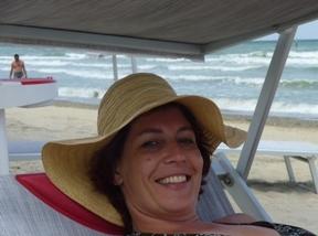 Myra op het strand